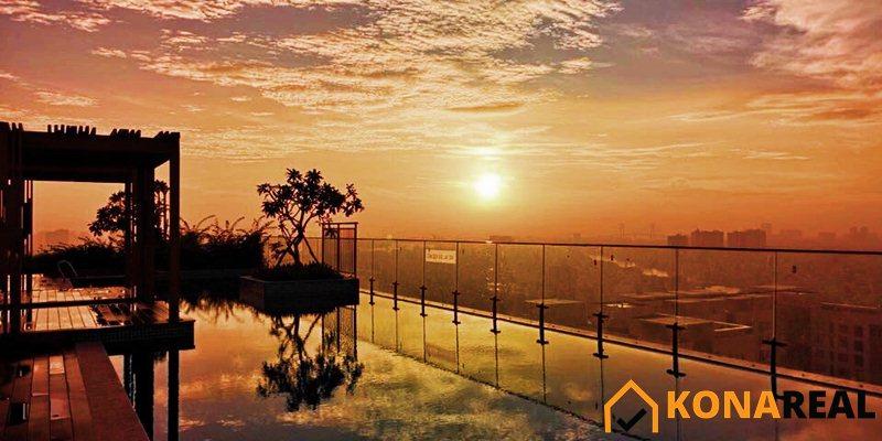View hồ bơi chung cư The Gold View quận 4