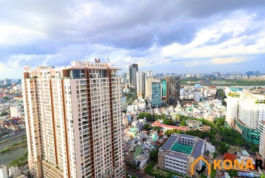 View tầng 30 chung cư River Gate quận 4