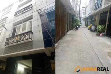Nhà khu tái thiết Hoàng Diệu quận 4 3x7.23m