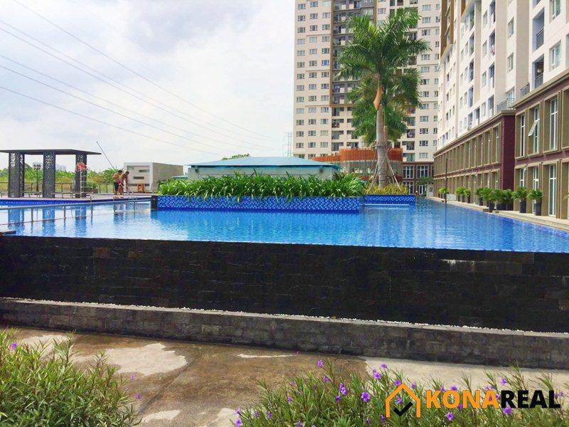 View hồ bơi chung cư The Park Residence huyện Nhà Bè