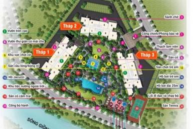 Mô hình chung cư Palm Heights quận 2