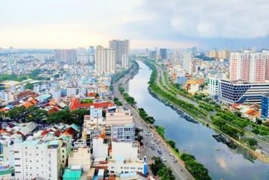 View kênh Bến Nghé chung cư River Gate quận 4