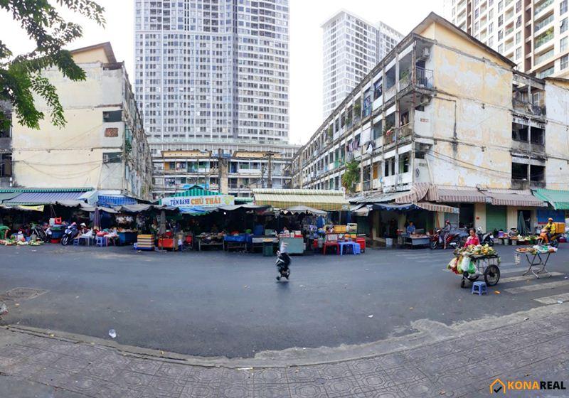 Chợ Hãng Diêm Nguyễn Hữu Hào quận 4