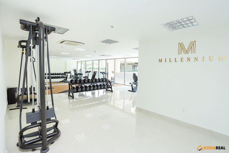 View phòng gym chung cư Millennium quận 4