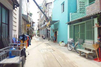 Nhà đường Tôn Thất Thuyết quận 4 3.7x8m