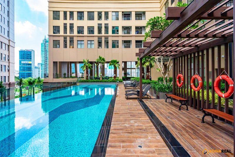 View hồ bơi Saigon Royal quận 4