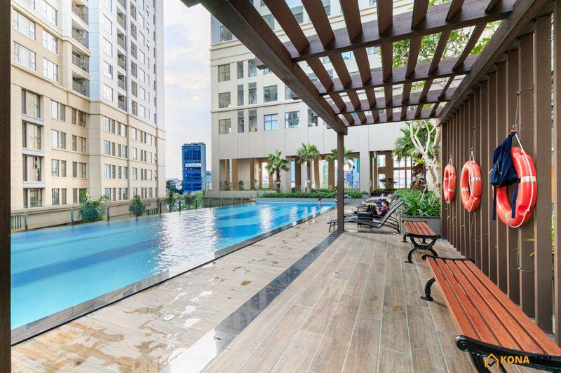 View hồ bơi chung cư Saigon Royal quận 4