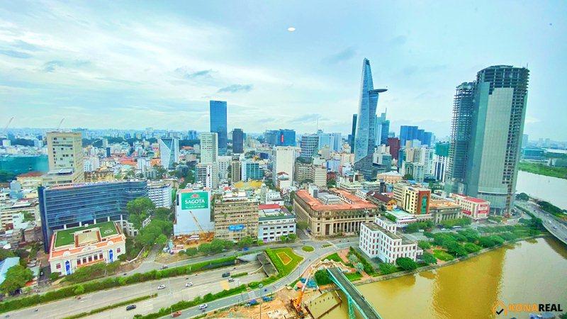 View Bitexco chung cư Saigon Royal quận 4